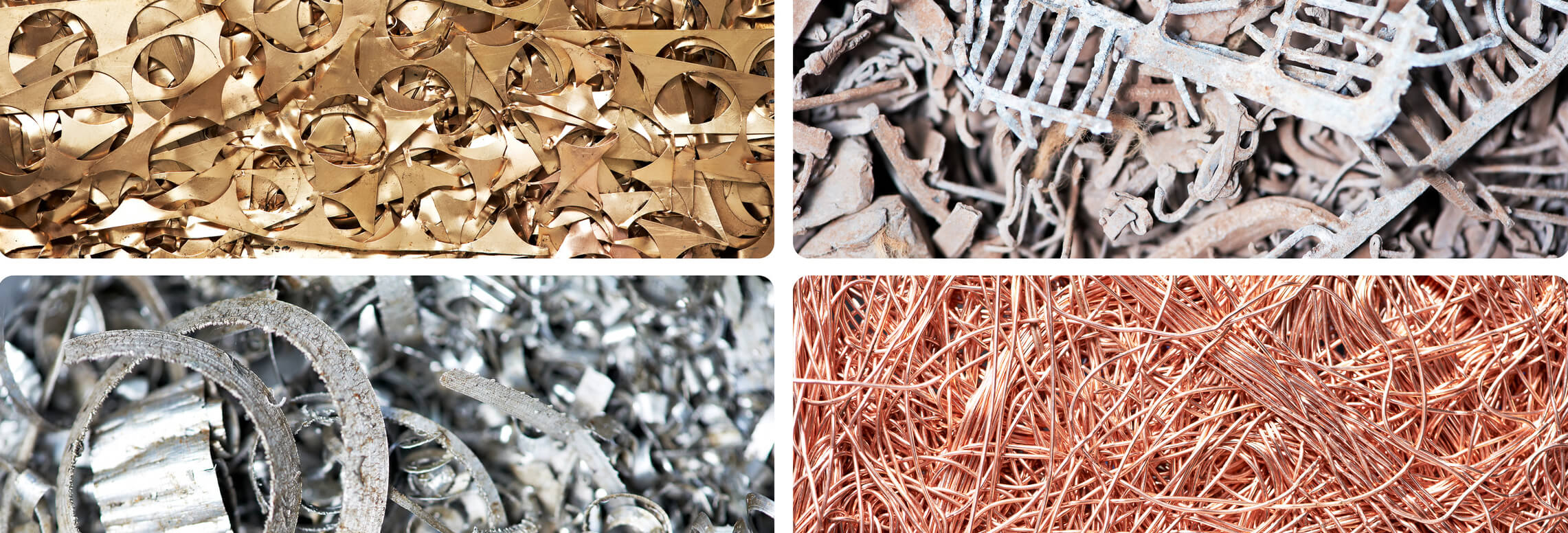 Buntmetall und Altmetall wie Messing Kupfer Aluminium Edelstahl und Blei
